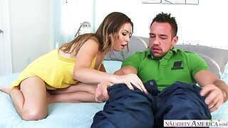 Melissa Moore fucking in the edging with the brush innie pussy