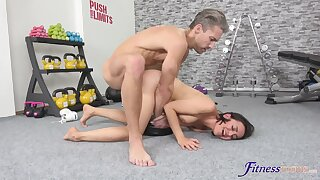 Doggy sex and real orgasms for this sporty young comprehensive