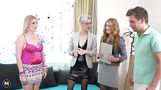 Sex party with reference to 3 mature cougars