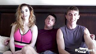 Joel And Nala Cum Metamorphosis Collin's Huge Load After A Hot Lady-love