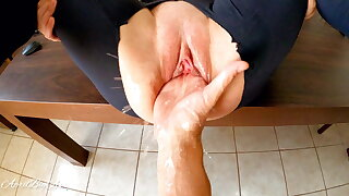 Fisting and squirting, destroying pussy be advantageous to my stepdaddy!!!