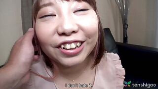 Chubby Japanese teen Haruka Fuji in roguish grow older video