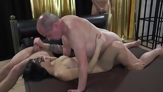 Busty Tits Hottie Amateurs Indulge Creampied unconnected with Old German Men