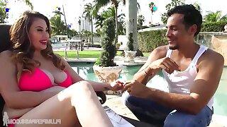 Hispanic voluptuous MILF Selena Castro amazing sex clip