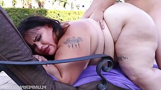 BBW with fat pest Victoria Secret - Oiled Up Secret - unprofessional hardcore with cumshots not on by the pool