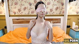 Blindfolded brunette couldnt refuse sex surrounding the boyfriend
